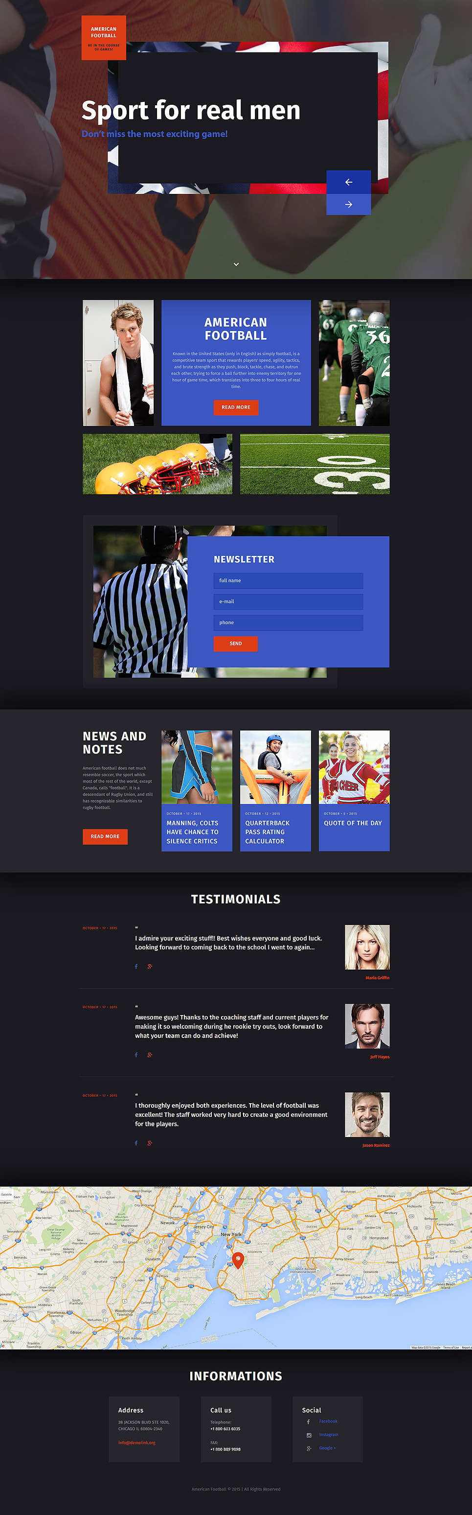 Rugby Responsive Landing Page Template New Screenshots BIG