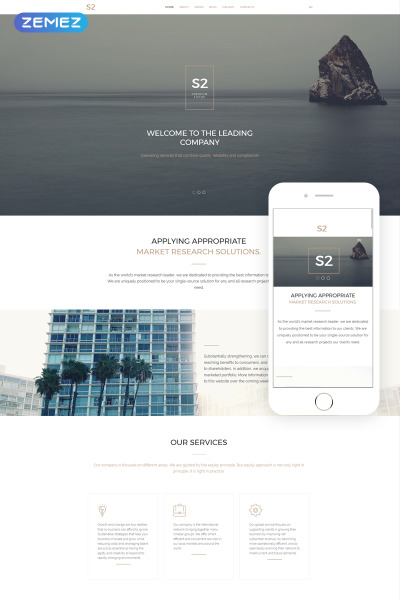 S2 Business Company Joomla Template #57752