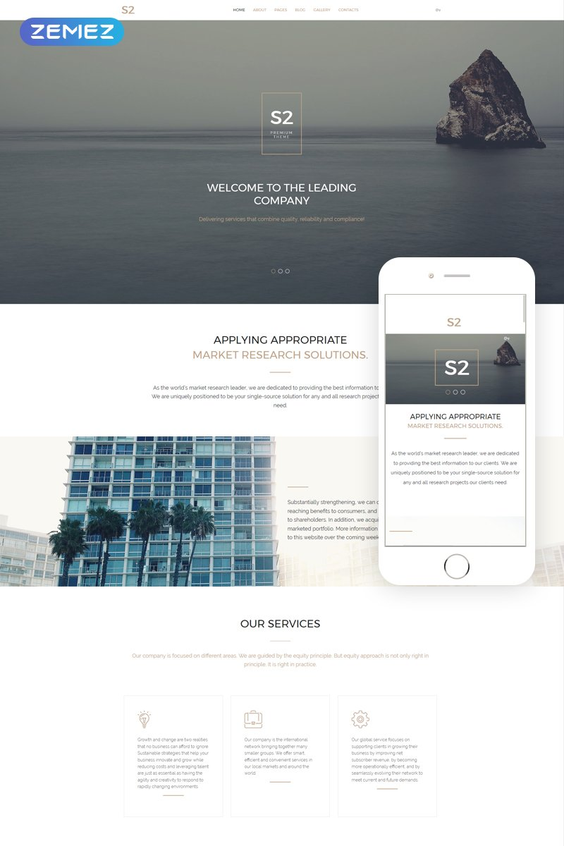 S2 Business Company Template Joomla №57752