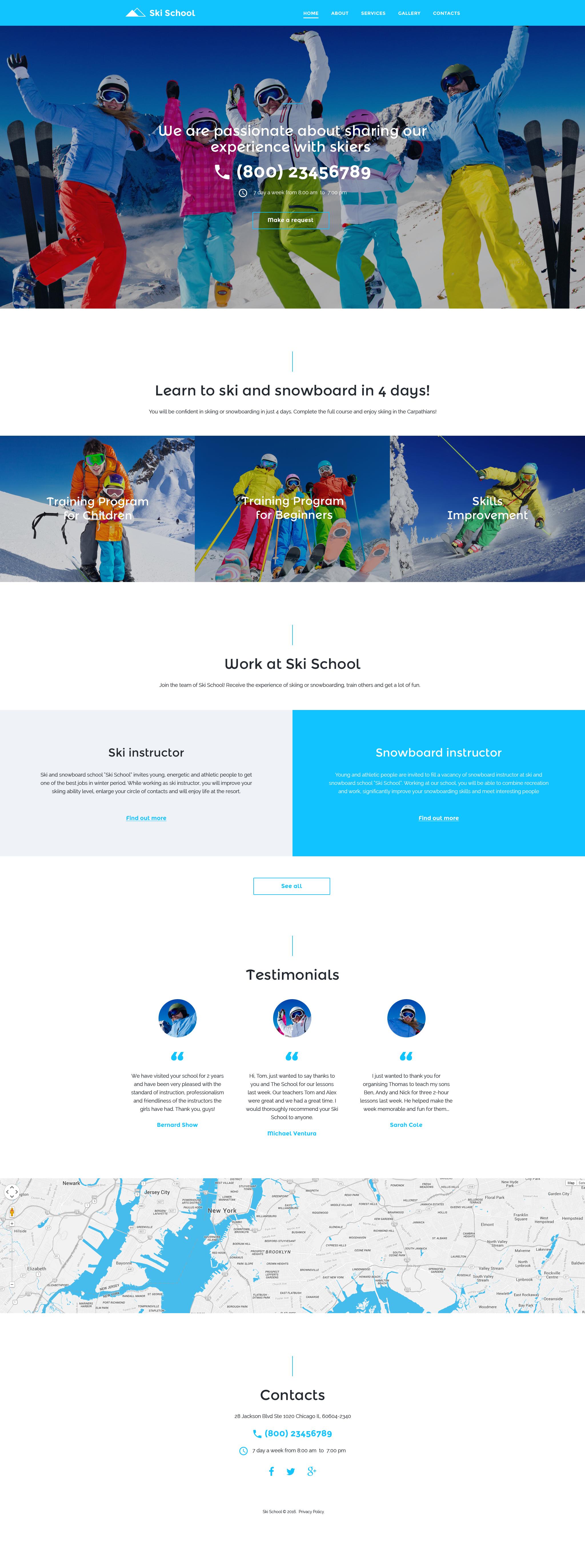 Ski School Website Template - screenshot