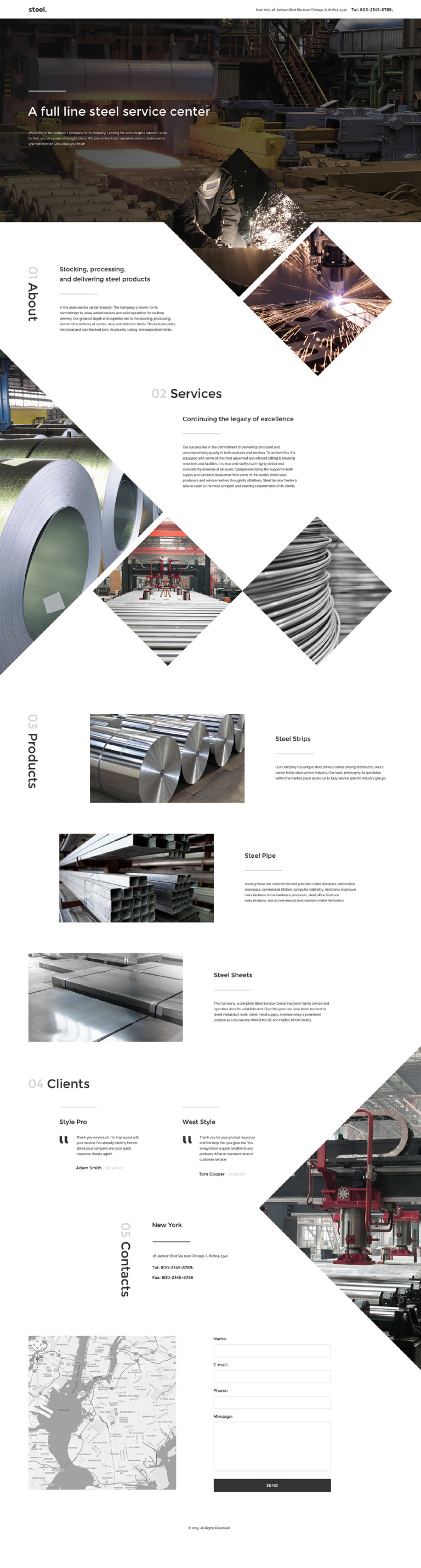Steelworks Landing Page Template New Screenshots BIG