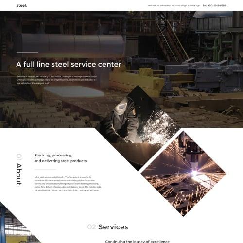 Steel - Responsive Landing Page Template