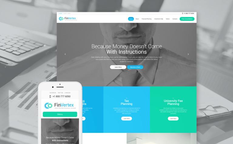 Tema de WordPress #57758 para Sitio de Asesores financieros