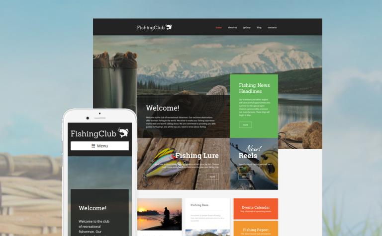 Tema de WordPress #57738 para Sitio de Pesca