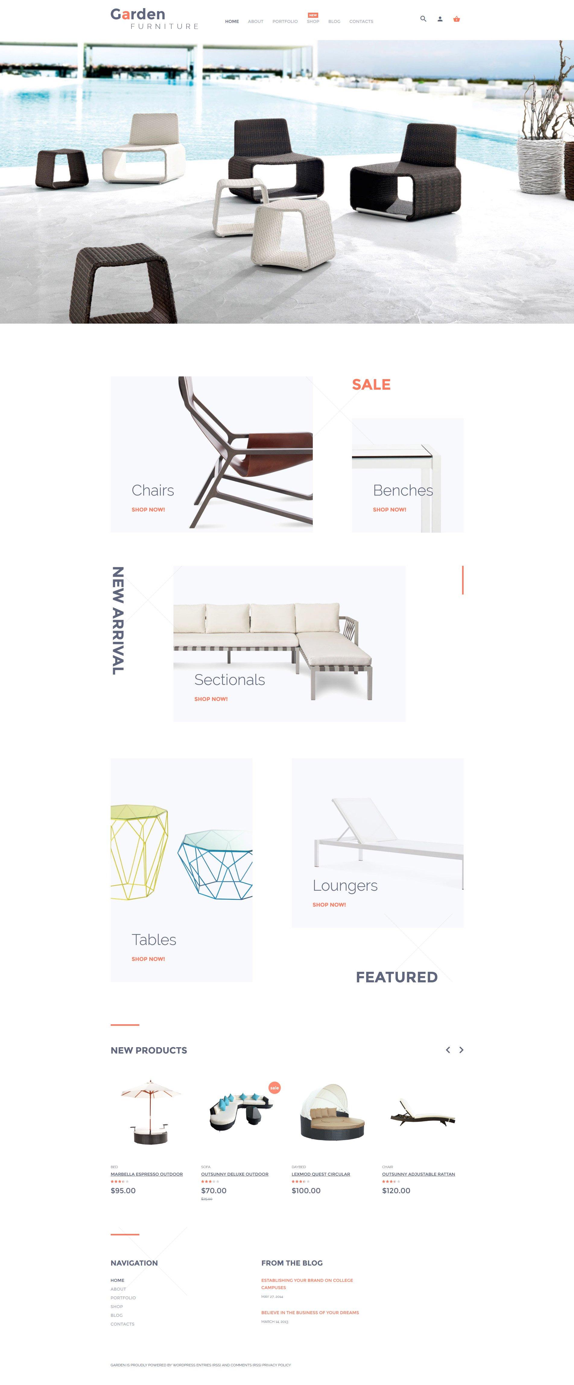 "Tema WooCommerce ""Tienda de Muebles de Jardín"" #57703"
