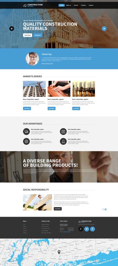 Flexível template Web №57777 para Sites de Empresa de Construção Civil