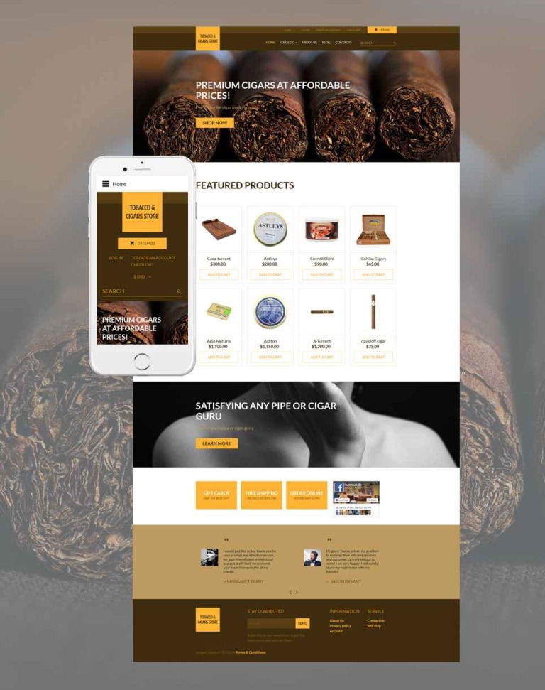 Tobacco Responsive VirtueMart Template New Screenshots BIG