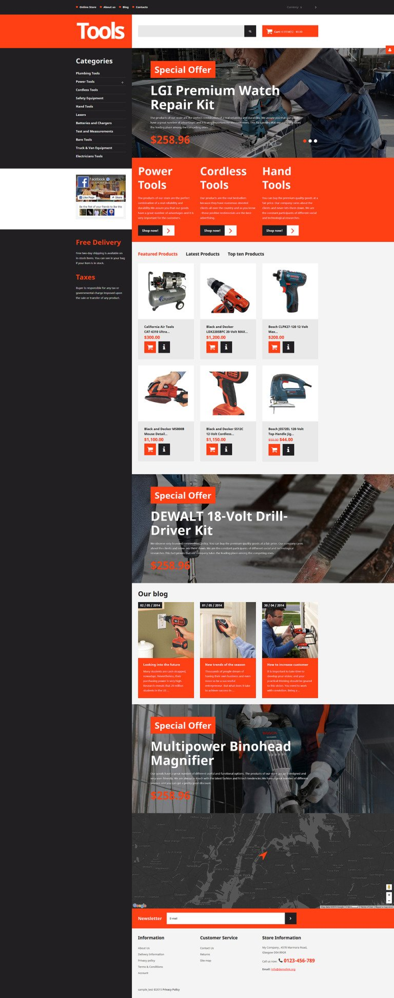 Tools & Equipment Responsive VirtueMart Template New Screenshots BIG