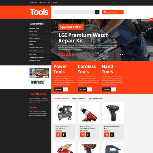Tools - VirtueMart Template based on Bootstrap