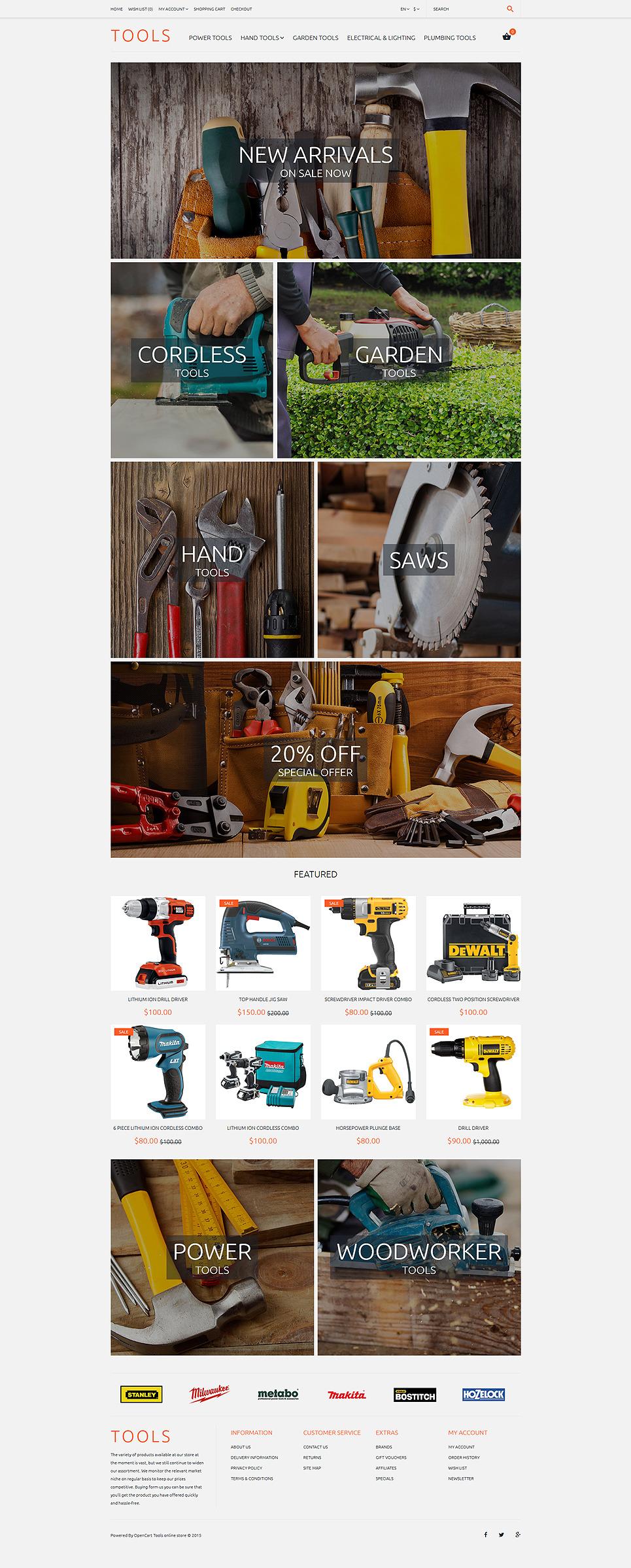 Tools OpenCart Template New Screenshots BIG