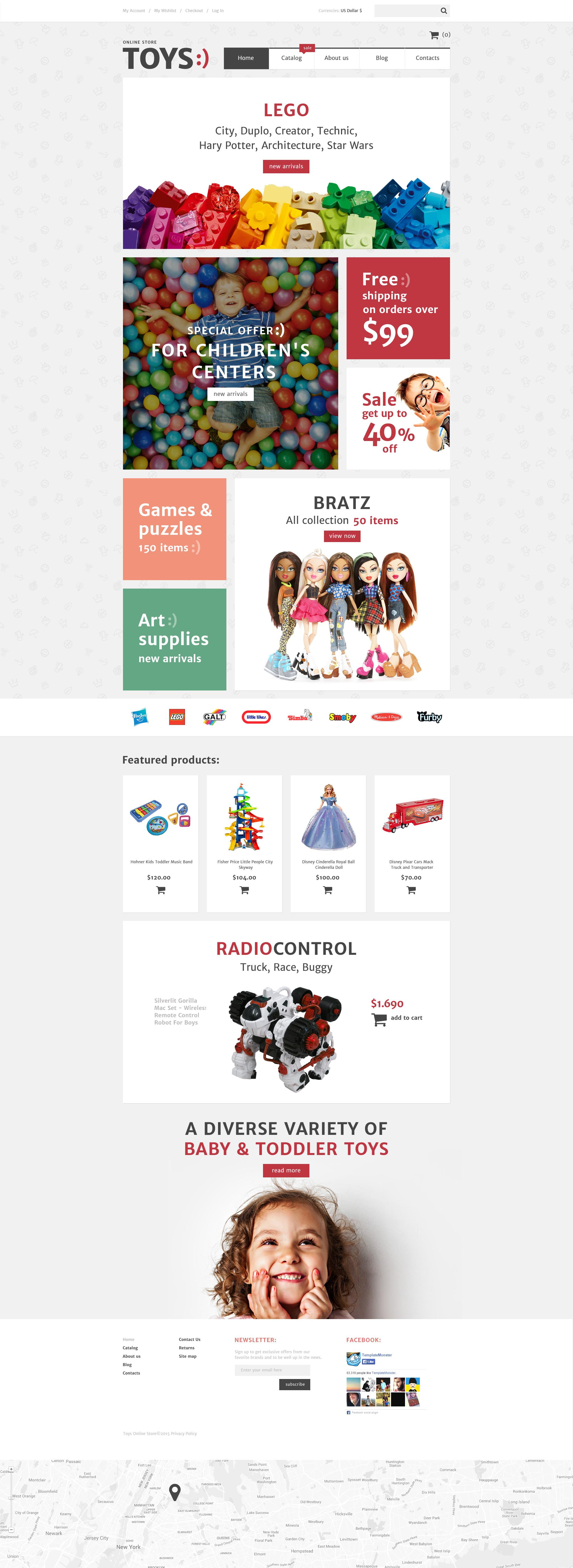 """""""Toys Shop"""" - VirtueMart шаблон №57721"""
