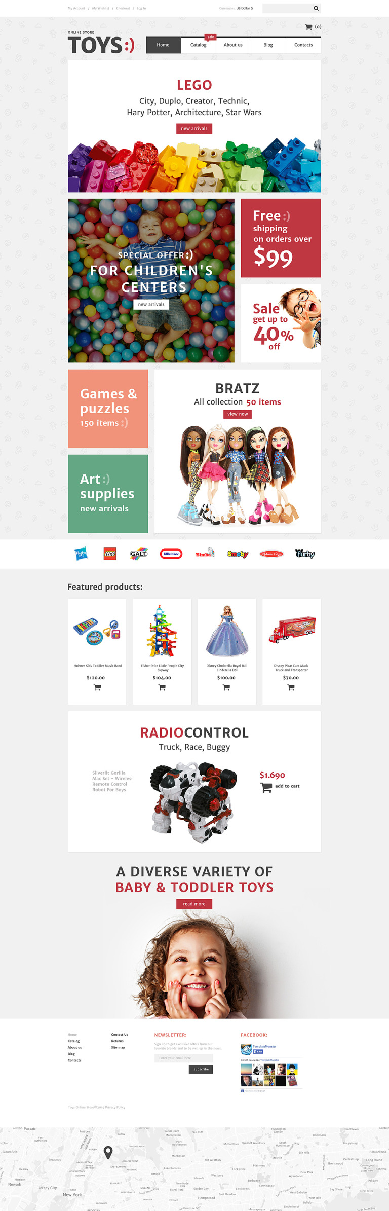 Toys Shop VirtueMart Template New Screenshots BIG