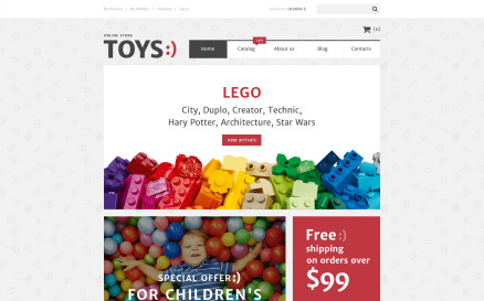 Toys Shop VirtueMart Template