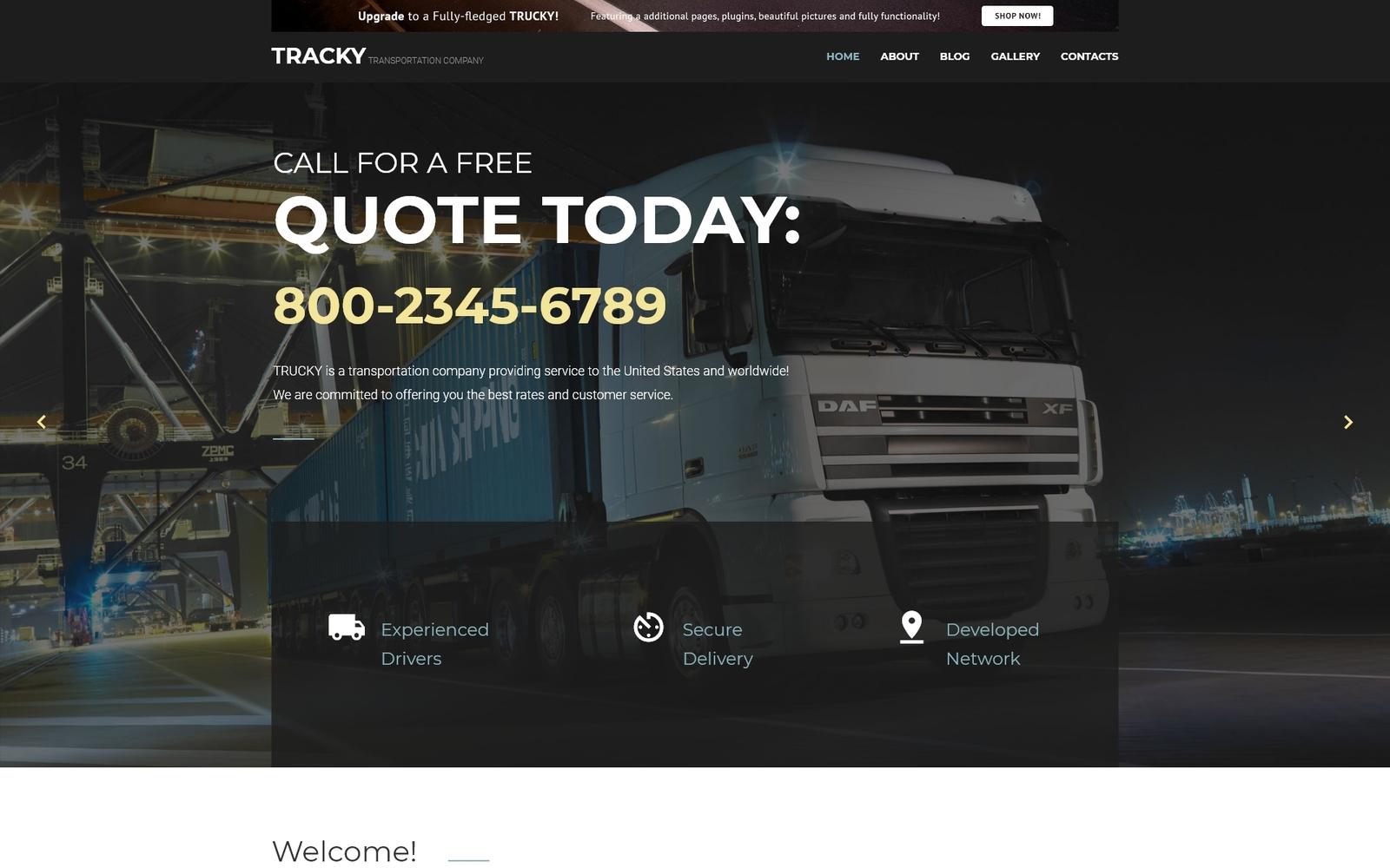 """Tracky - Transportation Free Clean"" - Joomla шаблон №57778"