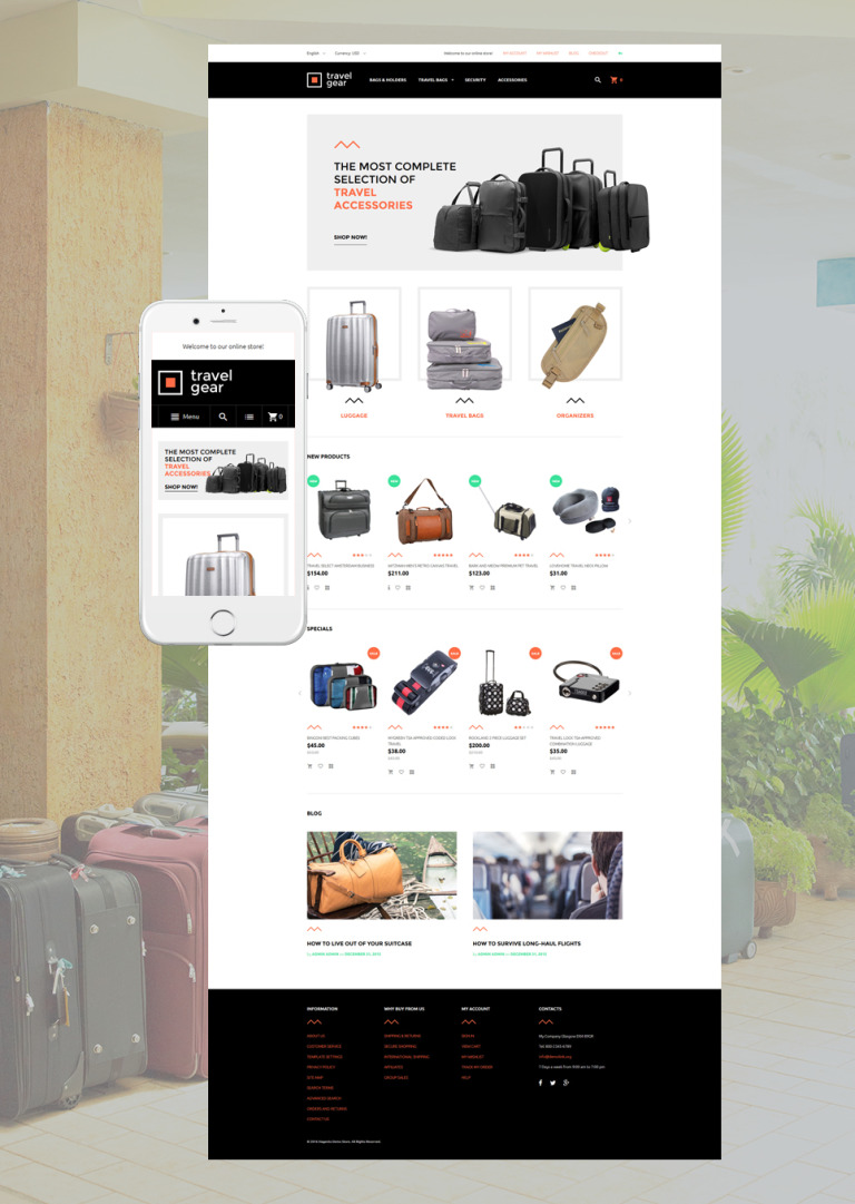 Travel Gear Magento Theme New Screenshots BIG