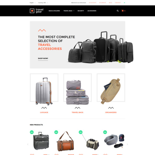 Travel Gear - Magento Template based on Bootstrap