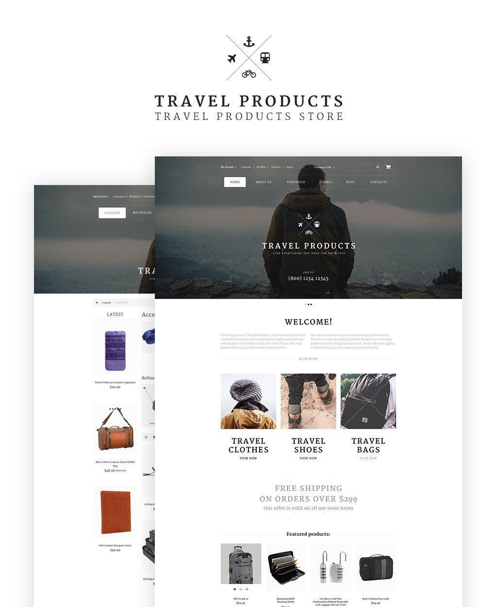 Travel Store Responsive OpenCart Template - screenshot