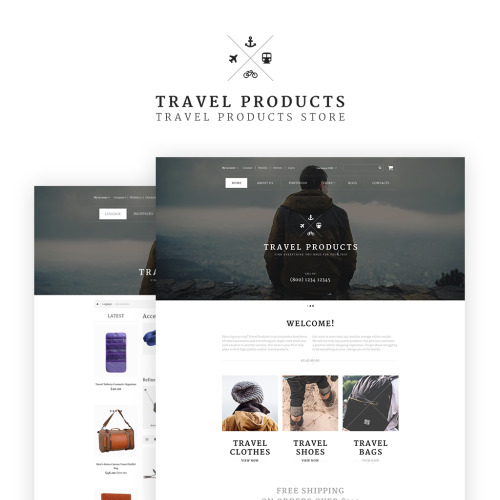 Travel Products - OpenCart Template based on Bootstrap