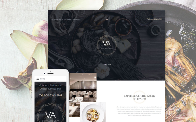 VA Restaurant Joomla Template New Screenshots BIG