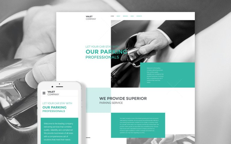 Valet Company Website Template New Screenshots BIG