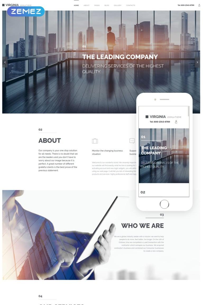 Virginia Joomla Template New Screenshots BIG