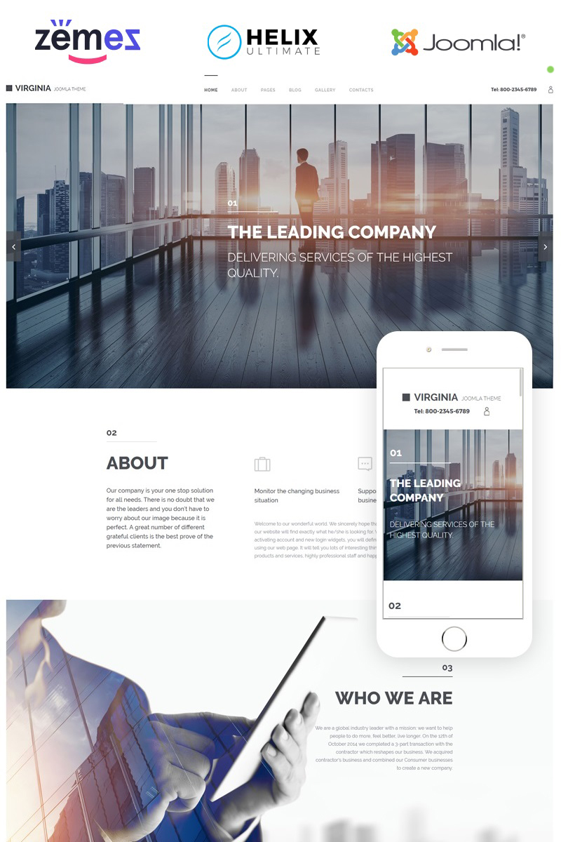 Virginia Joomla Template - screenshot