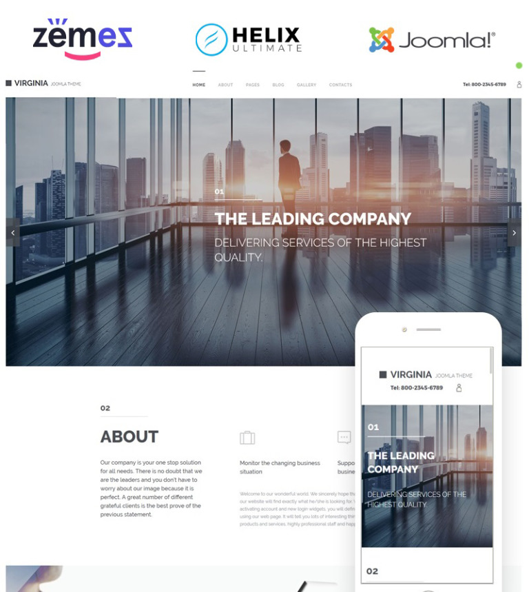 Corporate Joomla Theme - Virginia will template