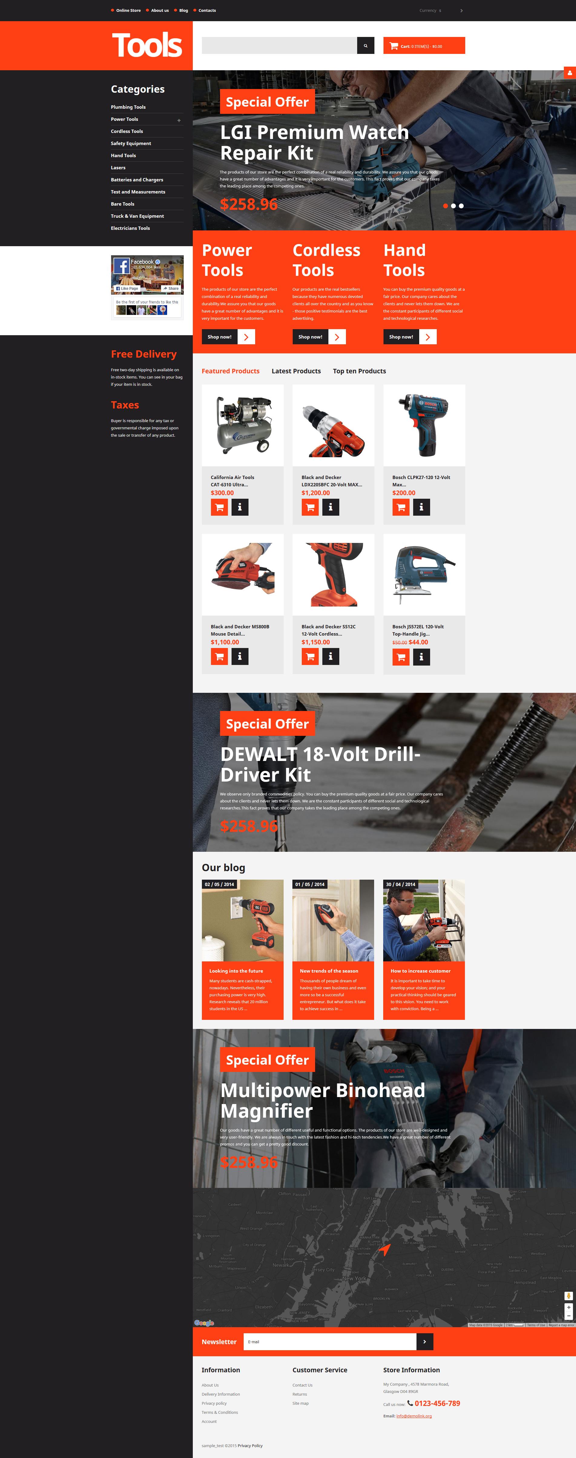 VirtueMart шаблон №57710 на тему инструменты и оборудование - скриншот