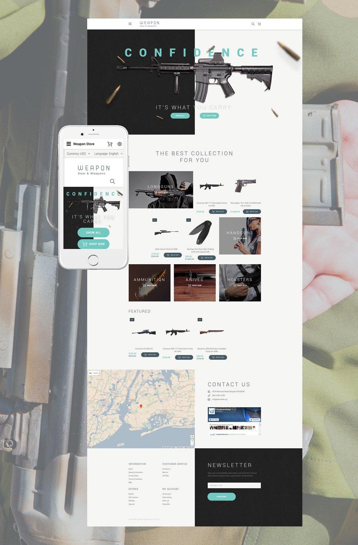 Weapon OpenCart Template New Screenshots BIG