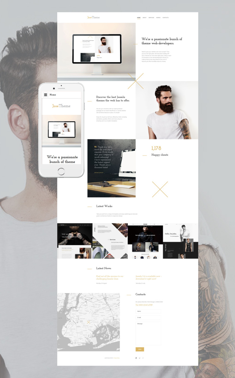 Web Design Responsive Website Template New Screenshots BIG