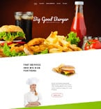 Cafe & Restaurant Website  Template 57800