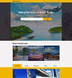 Travel Website  Template 57801