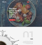 Cafe & Restaurant Website  Template 57803