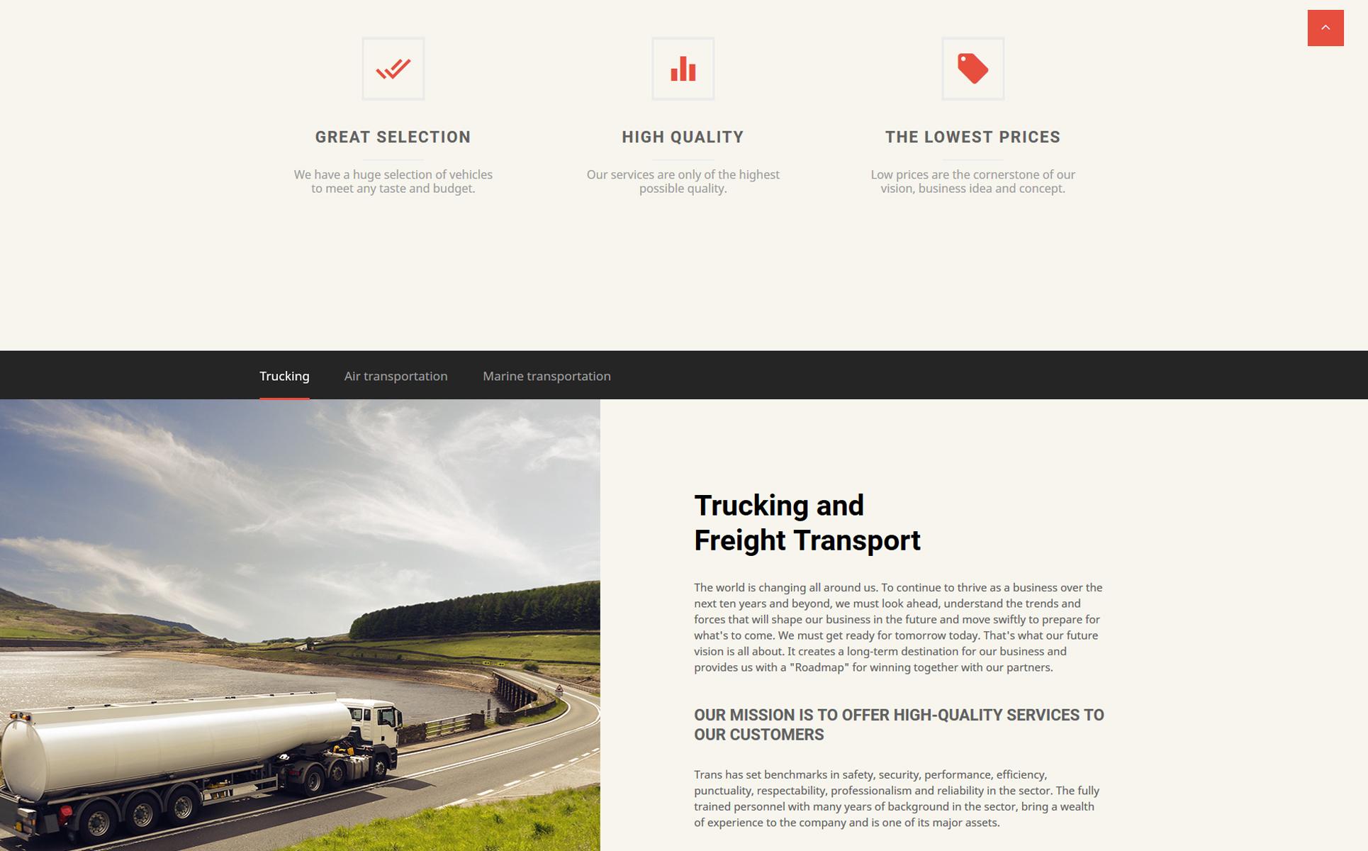 Plantilla Web #57806 para Sitio de Transporte