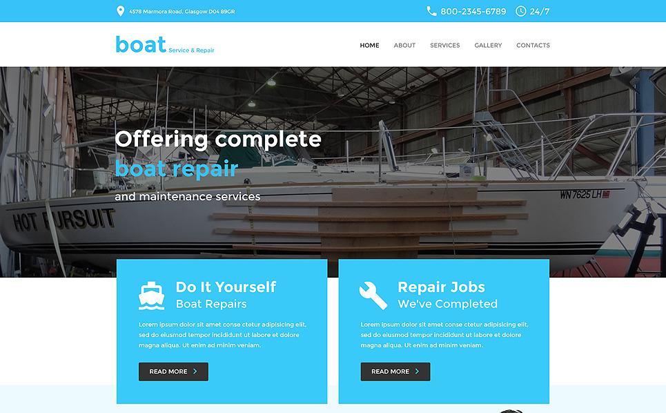 Адаптивний Шаблон сайту на тему яхтинг New Screenshots BIG