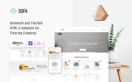 Sofa - Interior Design Agency Multipage HTML Website Template