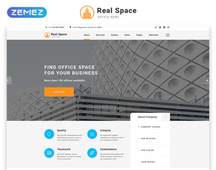 Real Space - Real Estate Modern Multipage HTML5 Website Template
