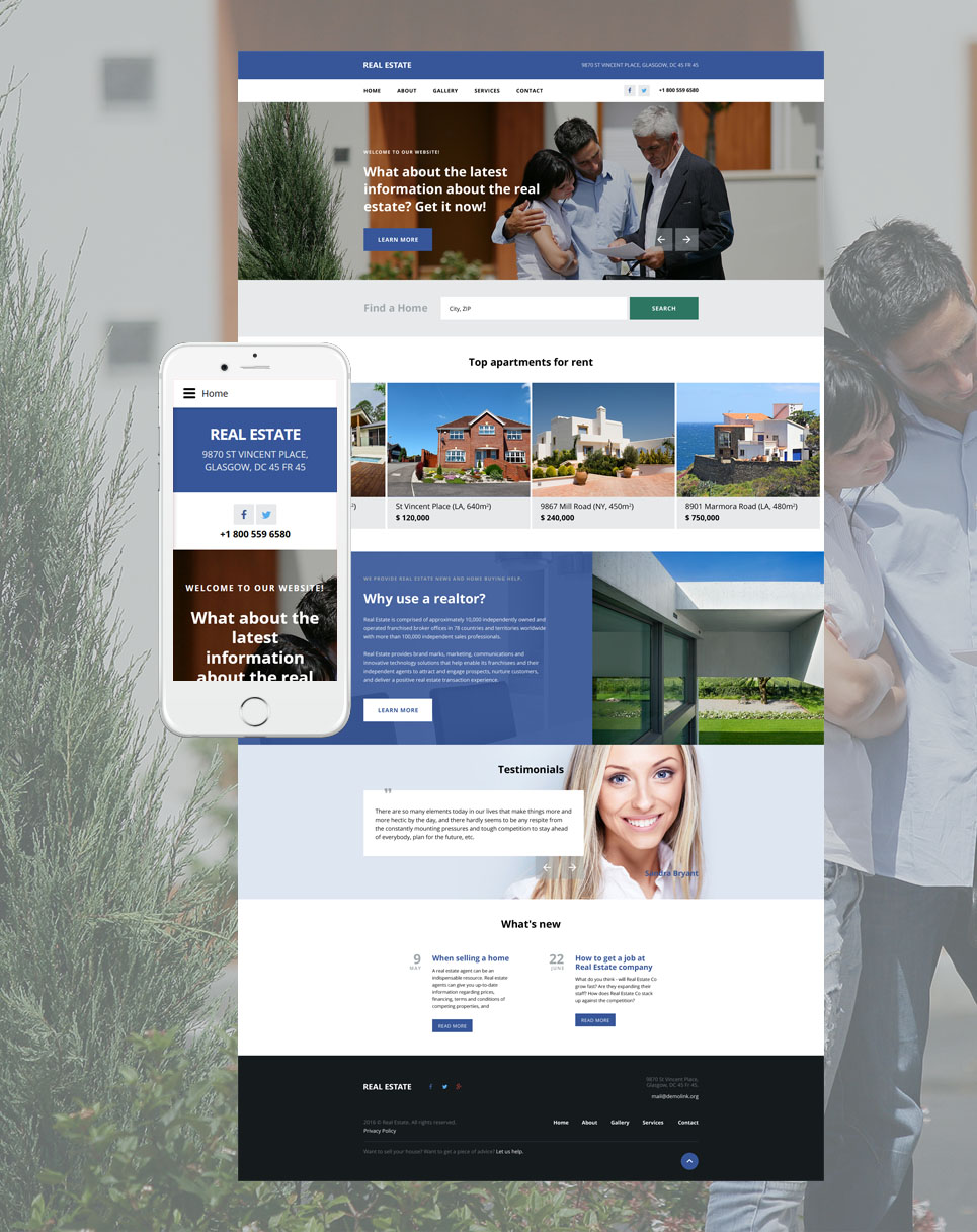 Real Estate Agency template illustration image