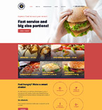 Cafe & Restaurant Website  Template 57838