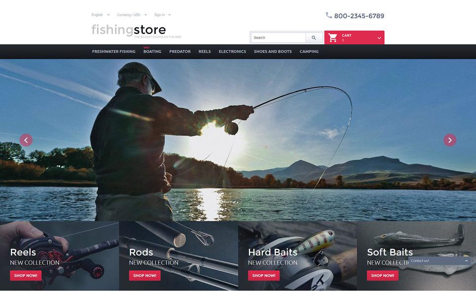 Responzivní PrestaShop motiv na téma Rybaření New Screenshots BIG