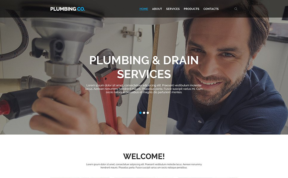 Reszponzív Vízvezetékszerelés Weboldal sablon New Screenshots BIG
