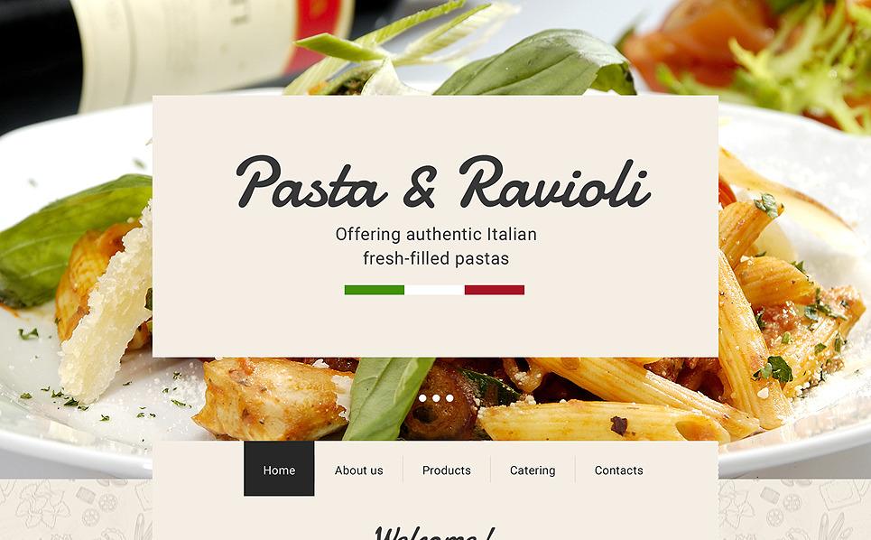 Responsive Italian Restaurant Templates Web Sitesi Şablonu New Screenshots BIG