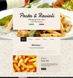 Cafe & Restaurant Website  Template 57848