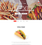 Cafe & Restaurant Website  Template 57850