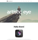 Art & Photography Website  Template 57853
