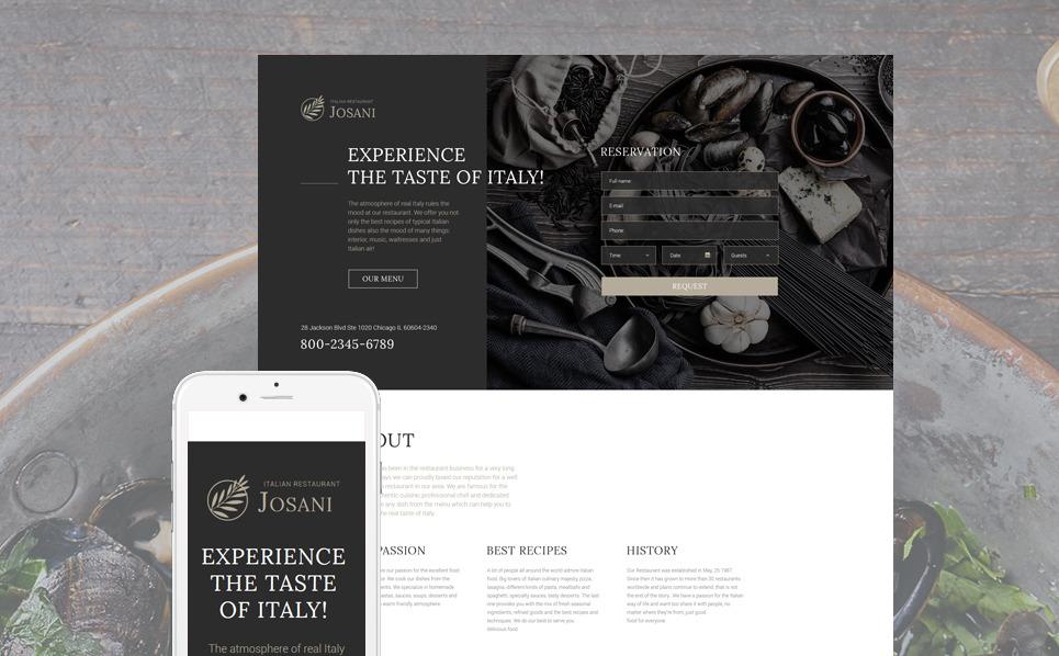 Responsywny szablon Landing Page #57854 na temat: restauracja włoska New Screenshots BIG