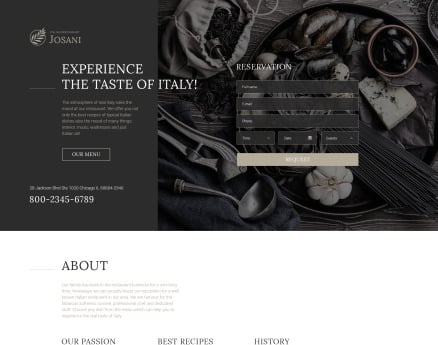 Cafe and Restaurant Landing Page Template