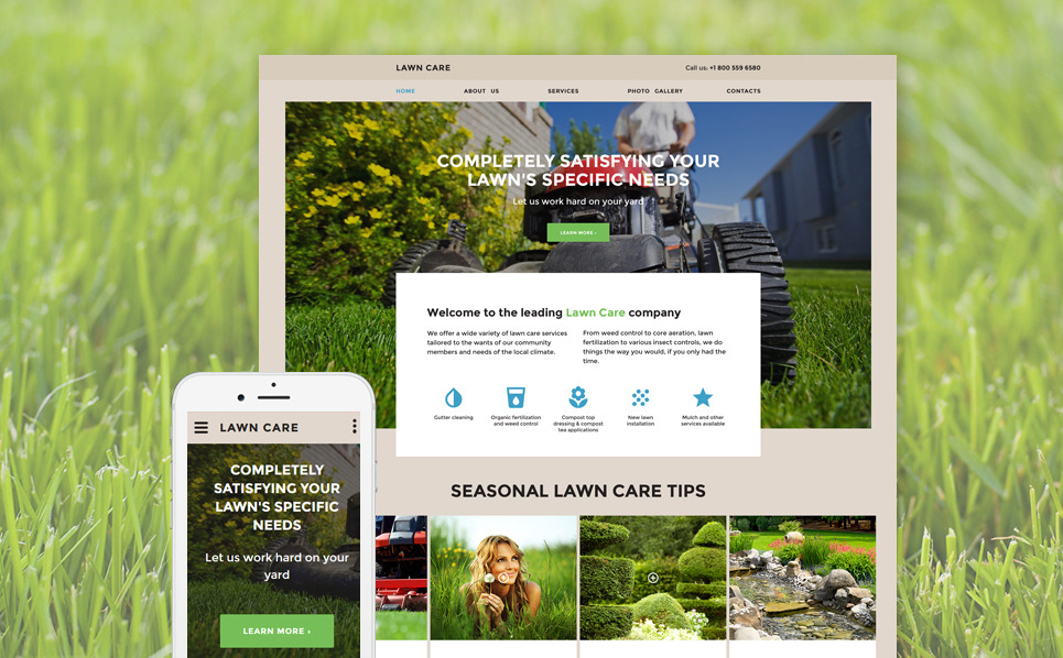 Responsive Website template over Gazon Maaien New Screenshots BIG