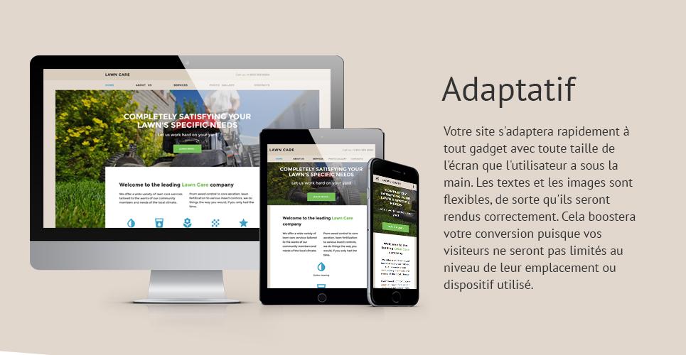 Mod le web adaptatif 57855 pour site de services de tonte for Service de tonte de pelouse