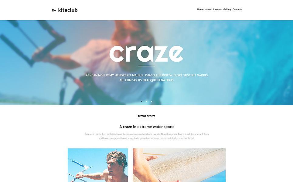 Responsive Website template over Kitesurfen  New Screenshots BIG